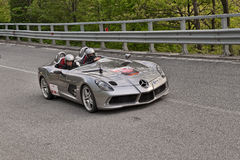 Supercar Mercedes-Benz SLR McLaren in Mille miglia 2013 Royalty Free Stock Photo