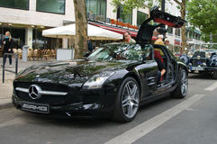 Supercar Mercedes-Benz SLS AMG Imagem de Stock Royalty Free