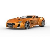 Supercar métallique orange Images stock