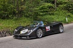 Supercar Pagani Zonda dans le miglia 2013 de Mille Image stock