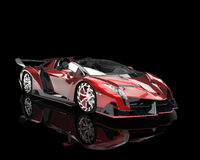 Supercar - red pearlescent paint Stock Photography