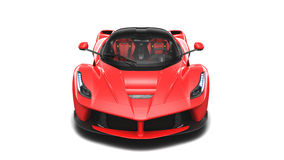 Supercar rosso - Front Studio View Immagine Stock