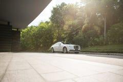 Supercar. Shooting a clean supercar at a carpark royalty free stock photo