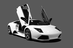 supercar white Arkivfoton