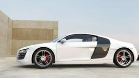 supercar white Arkivfoton