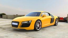supercar yellow Royaltyfria Bilder