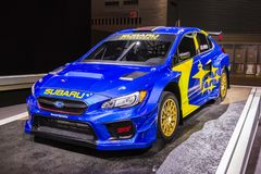 Supercarro 2019 da WTI VT19x Rallycross de Subaru WRX imagens de stock
