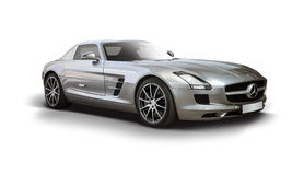 Supercarro de Mercedes-Benz SLS AMG Foto de Stock Royalty Free