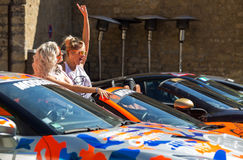 Supercars au rassemblement de Modball au Luxembourg photo stock