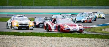 Supercars door chicane Stock Foto's