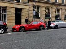 Supercars in England. Ferrari f12 berlinetta Royalty Free Stock Photo