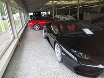 Supercars. Garage of dream, rich man toys Stock Photo