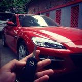Supercars Mazda RX 8 Images libres de droits