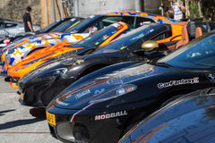 Supercars at Modball Rally in Luxembourg Stock Image
