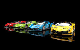 Supercars - primary colors Stock Photography