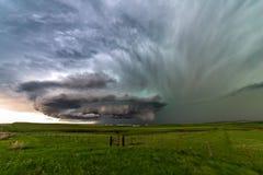 Supercell burza z dramatycznym niebem obrazy royalty free