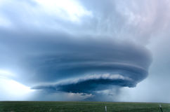 Supercell storm near Vega - Texas stock images