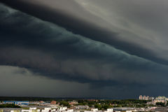 Supercell storm over the city Royalty Free Stock Images
