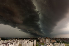 Supercell storm over the city Royalty Free Stock Photography