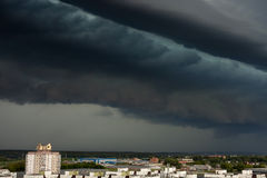 Supercell storm over the city Royalty Free Stock Photo
