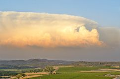 Supercell storm stock image