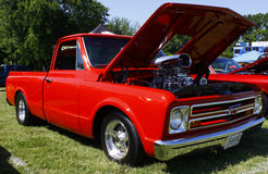 supercharged 67 Chevy Stock Images