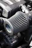 Supercharged car engine Stock Photo