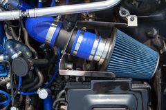 Supercharged car engine Royalty Free Stock Photo