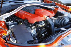 Supercharged Chevy Camaro engine Royalty Free Stock Photos