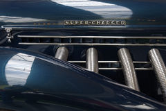 Supercharged engine Royalty Free Stock Photos