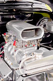 supercharged motor Royaltyfri Bild