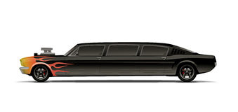 Supercharged muscle car limo Stock Image
