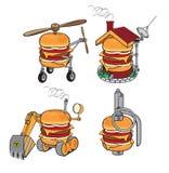 Supercheeseburger Stock Abbildung