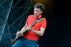Superchunk (American indie rock band from Chapel Hill) performance at Heineken Primavera Sound 2014 Festival Royalty Free Stock Images