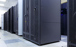 Supercomputer clusters in the room of modern data center