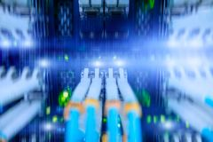 Fiber Optical connector interface. multiple exposure. stock image