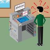 Supercomputer di errori Fotografia Stock