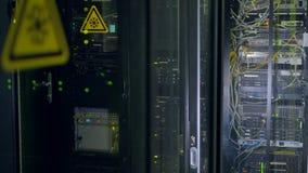 supercomputer Elektronisch technologieconcept stock video