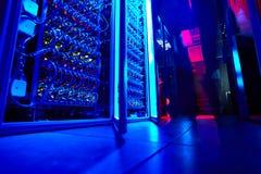 Supercomputerlagring Arkivfoton