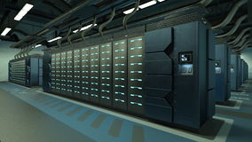Supercomputing Center. 3D CG rendering of Supercomputing Center Stock Photography
