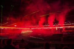 Supercross Opening Ceremonies Royalty Free Stock Photo