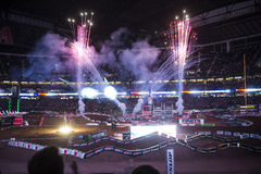 Supercross Opening Ceremonies stock photo