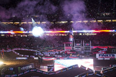 Supercross Opening Ceremonies stock photography