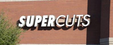 Supercuts Włosianego salonu znak zdjęcia royalty free