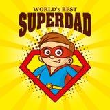 Superdad商标漫画人物超级英雄 免版税图库摄影