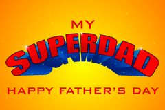 Superdad Father's Day Background Royalty Free Stock Photos