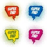 Superdad logo superhero Royalty Free Stock Image