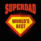 Superdad logo superhero World`s best Stock Images