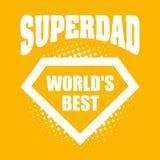Superdad logo superhero World& x27;s best Royalty Free Stock Photos