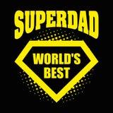 Superdad logo superhero World& x27;s best Stock Image